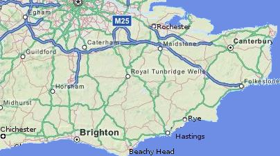 Map Of England Brighton.The Southeast Of England Heritage And Tourism