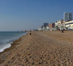the beach at Brighton