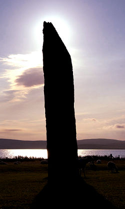 Standing stone at Stenness, Orkney