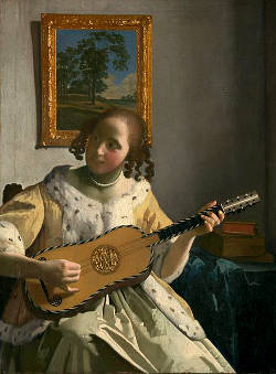 Vermeer - woman with guitar